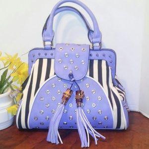 Melie Bianco striped Dr.'s bag NWOT